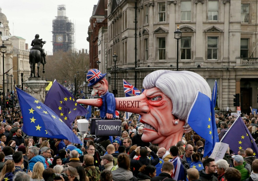 Brexit - May's nose piercing through the Economy - 28-03-19 - NINTCHDBPICT000478053221